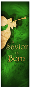 Church Christmas Banner - green angel 3