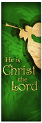 Church Christmas Banner - green angel 4