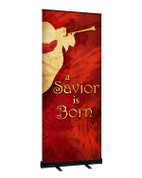 Red Angel Christmas Angel Banner