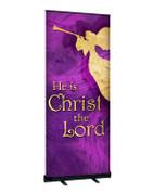 Purple Angel Christmas Angel Banner