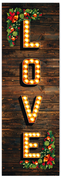 Vintage Marquee Love Christmas Banner