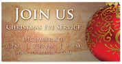 Join Us Christmas Ornament Outdoor Church Banner
