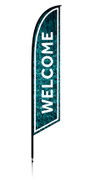 Feather - Outdoor Banner Water Welcome VF