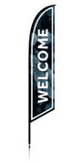 Feather - Outdoor Banner Rocks Welcome VF