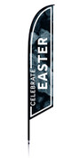Feather - Outdoor Banner Rocks Celebrate Easter VF