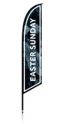 Feather - Outdoor Banner Rocks Easter Sunday VF