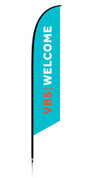 VBS Feather Generic Aqua Welcome