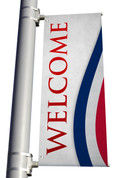 DS Light Pole Banner - Patriotic Stripes Atl Welcome