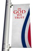 DS Light Pole Banner - Patriotic Stripes Alt In God We Trust