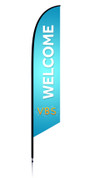 VBS Feather Light Blue - Welcome