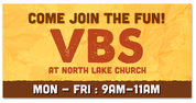 Outdoor Vinyl VBS Yellow Map Come Join the Fun