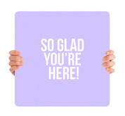 Glad You're Here Purple HH008
