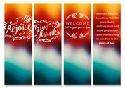 Colorful Fall Banners - HB120 Set of 4