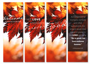 Autumn Joy Banners - HB130 Set of 4