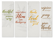 Thankful Words Banners - HB150 Set of 4