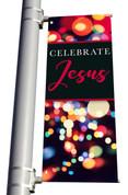 DS Light Pole Banner - Christmas Lights Celebrate Jesus