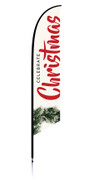 Christmas Feather Banner - Celebrate Christmas Wreath