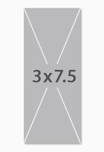 3ft x 7ft 6in fabric indoor banner