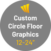 Custom Circle Floor Decals - Adhesive Vinyl Sticker