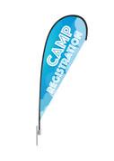 Teardrop Flag Kids Clouds Camp