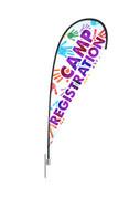 Teardrop Flag Hands Registration