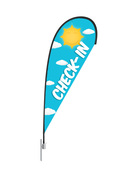 Teardrop Flag Sun Check-In