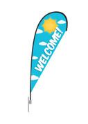 Teardrop Flag Sun Welcome