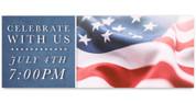 Outdoor Vinyl Banner - Patriotic Flag Celebrate