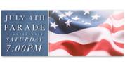 Outdoor Vinyl Banner - Patriotic Flag Parade