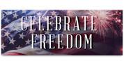 Outdoor Vinyl Banner - Patriotic Fireworks Celebrate Freedom