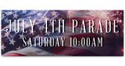 Outdoor Vinyl Banner - Patriotic Fireworks Parade