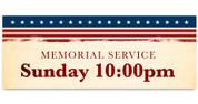 Outdoor Vinyl Banner - Patriotic Stripes Memorial Service