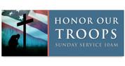 Outdoor Vinyl Banner - Patriotic Honor Troops
