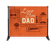 Father's Day Backdrop - Orange Vintage Hip Dad