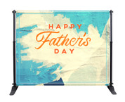 Father's Day Backdrop - Blue Torn Paper