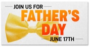 Father's Day Banner - Letterpress