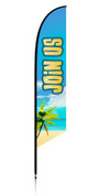 Feather flag vbs theme beach join us