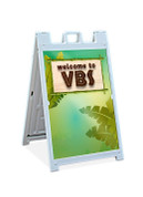 Sandwich Sign VBS Jungle Theme Welcome