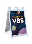 Sandwich Sign VBS Space Theme Welcome