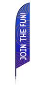 Vbs feather flag blue 2
