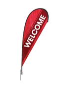 Teardrop Flag -  Welcome Red Stripe