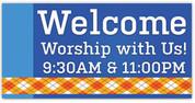 Fall Harvest vinyl banner for church