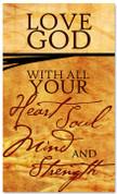 Love God banner for church sanctuaries