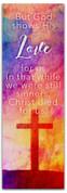2x6 E285 Easter Watercolor Cross - Romans 5:8
