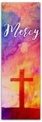 2x6 E288 Easter Watercolor Cross - Mercy