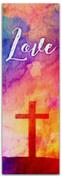 2x6 E289 Easter Watercolor Cross - Love