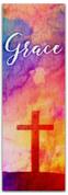 2x6 E291 Easter Watercolor Cross - Grace