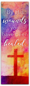 2x6 E293 Easter Watercolor Cross - 1 Peter 2:24