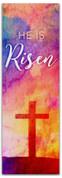 2x6 E294 Easter Watercolor Cross - He is Risen