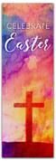 2x6 E296 Easter Watercolor Cross - Celebrate Easter